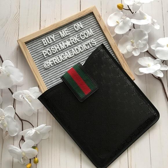 628a32e5 Gucci Bags | Authentic Black Imprime Gg Tablet Case | Poshmark
